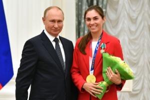 Владимир Путин и София Позднякова