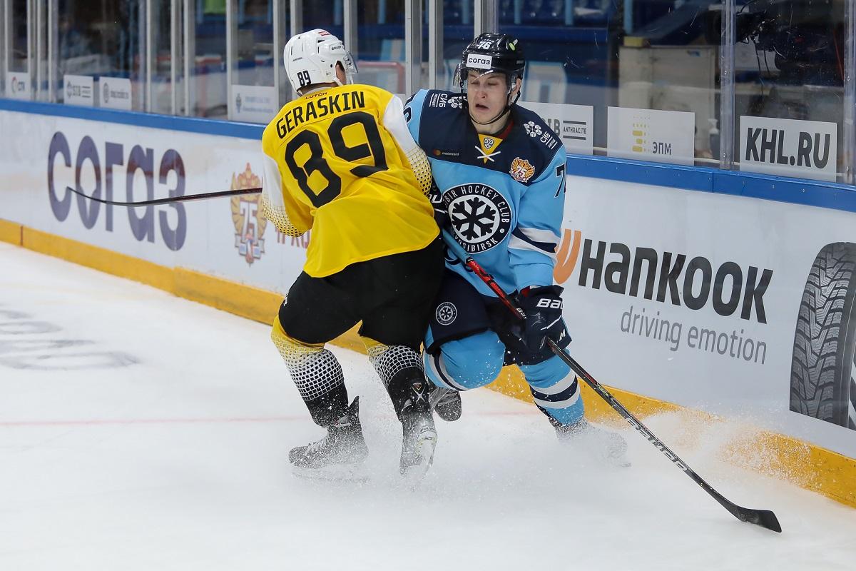Хоккейный матч, столкновение