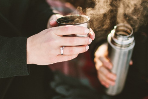 термос, чай, холод